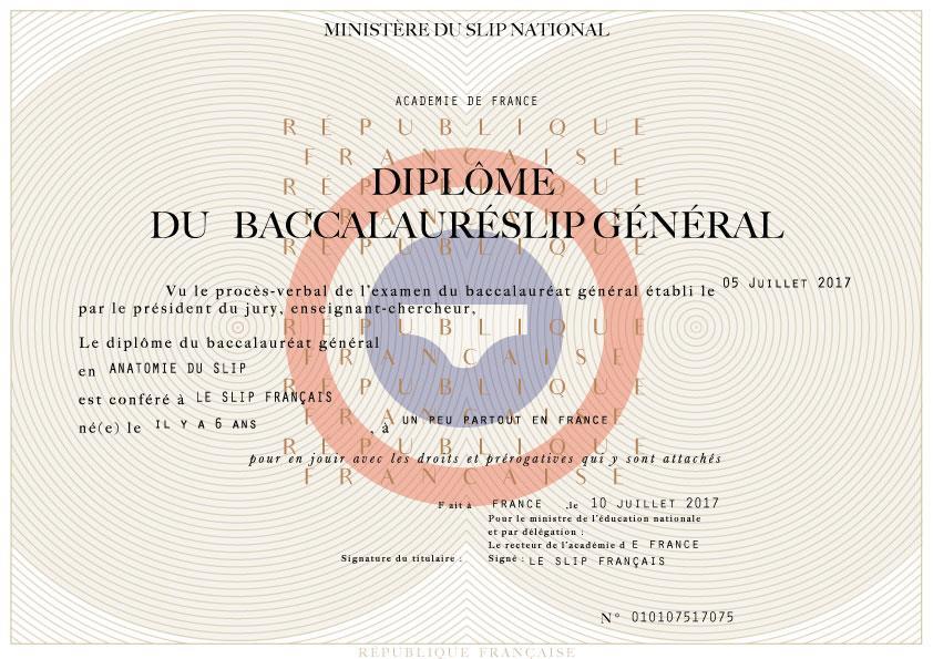 Réussite de Startup & SaaS : Slip Français - Diplôme du Bac