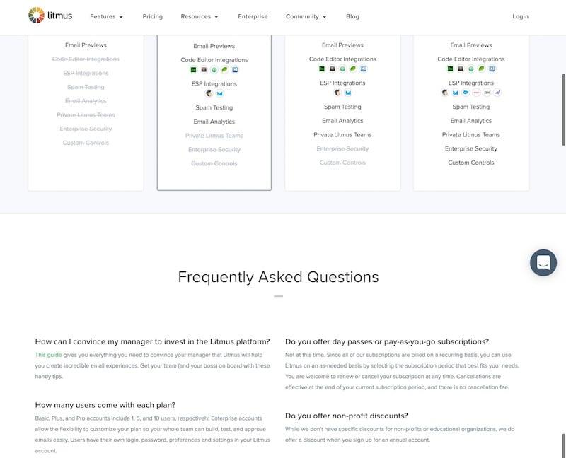 Litmus - FAQ Exemple