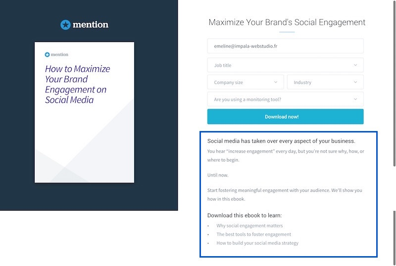 Mention - Landing Page Offre Exemple