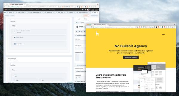Hubspot CMS : la construction des pages grâce au drag-and-drop