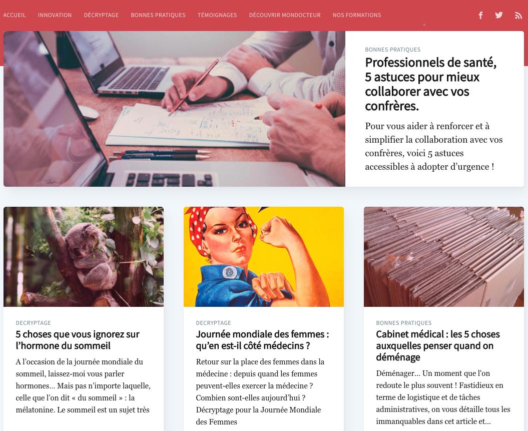Réussite de Startup & SaaS : Mondocteur.fr - Blog