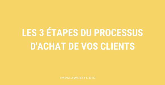 Les 3 étapes clés du processus d'achat de vos clients